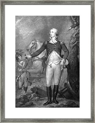General George Washington At Trenton Framed Print by War Is Hell Store