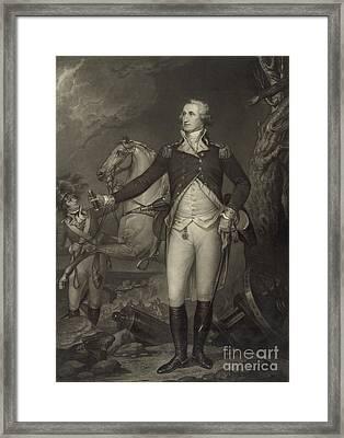 General George Washington, Battle Framed Print