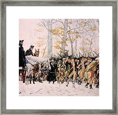 General George Washington Left Framed Print