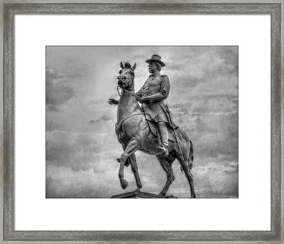 General Hancock Monument At Gettysburg Battlefield Framed Print
