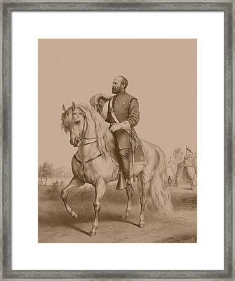 General James Garfield Framed Print by War Is Hell Store