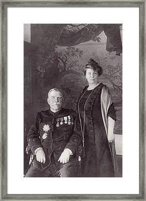 General Joffre And His Wife Madame Framed Print by Vintage Design Pics