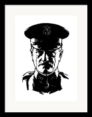 World War One Digital Art Framed Prints