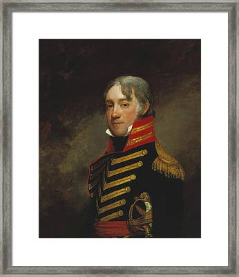General John R. Fenwick Framed Print by Gilbert Stuart