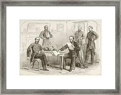 General Joseph Eggleston Johnston Framed Print by Vintage Design Pics