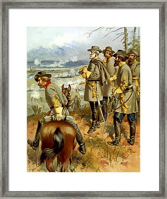 General Lee At The Battle Of Fredericksburg Framed Print by War Is Hell Store
