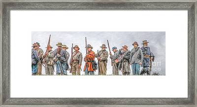General Lee Inspects The Troops Framed Print by Randy Steele