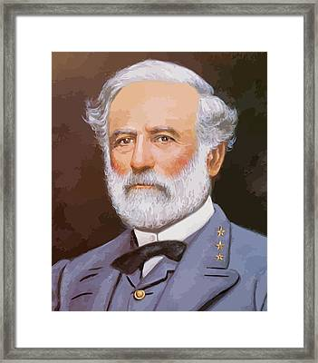 General Lee Framed Print by War Is Hell Store