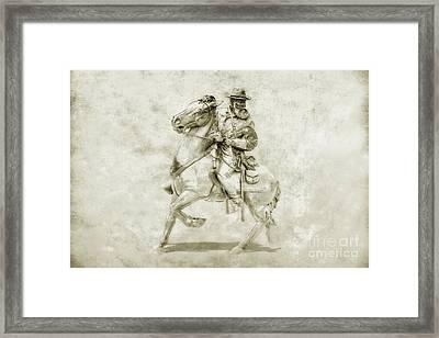 General Longstreet At Gettysburg Framed Print by Randy Steele
