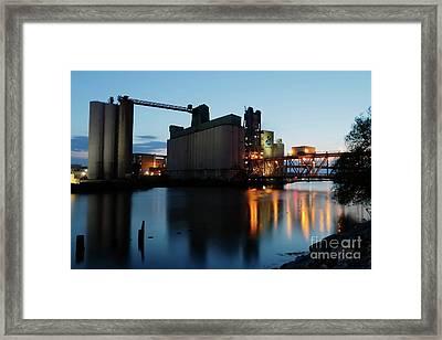 General Mills At Dusk Framed Print by Daniel J Ruggiero