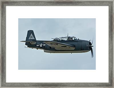 General Motors Tbm-3e Avenger Nx7835c Chino California April 30 2016 Framed Print by Brian Lockett