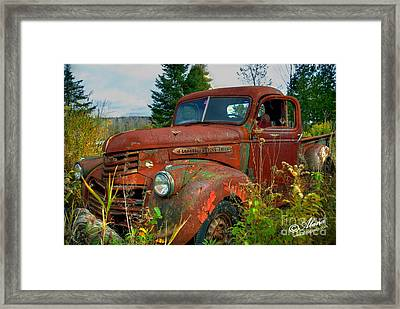 Framed Print featuring the photograph General Motors Truck by Alana Ranney