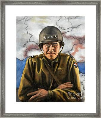 General Omar Bradley Framed Print by Richard Barone