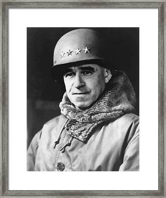 General Omar Bradley Framed Print by War Is Hell Store