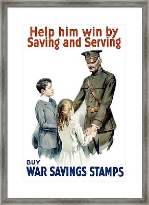 General Pershing - Buy War Saving Stamps Framed Print