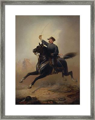 General Philip Sheridan's Ride - Thomas Buchanan Read Framed Print by War Is Hell Store