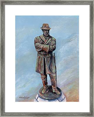 General Robert E. Lee Monument Framed Print by Elaine Hodges