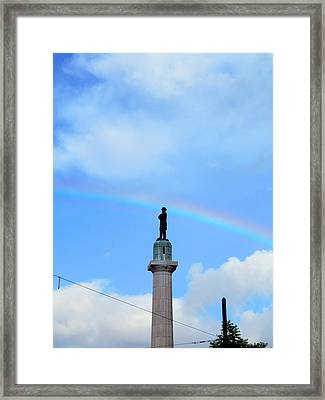 General Robert E. Lee Mounment In Retro Spectrum Framed Print