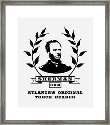 General Sherman - Atlanta's Original Torch Bearer Framed Print