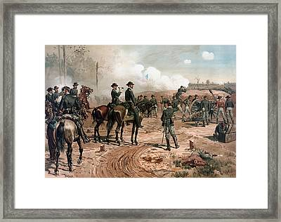 General Sherman Observing The Siege Of Atlanta Framed Print by War Is Hell Store