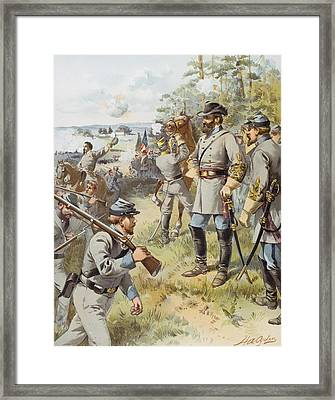 General Stonewall Jackson At The First Framed Print