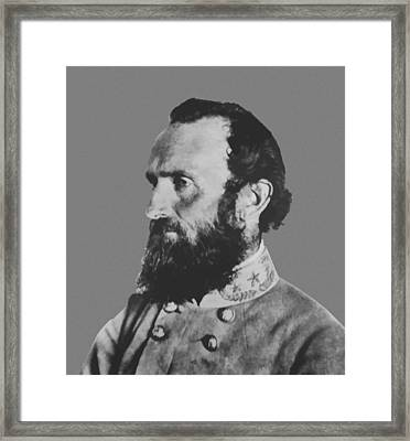 General Stonewall Jackson Framed Print by War Is Hell Store