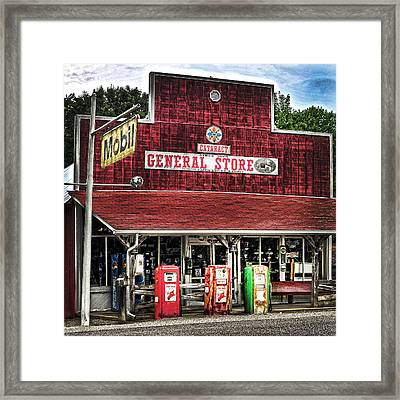 General Store Cataract In. Framed Print by Randall Branham