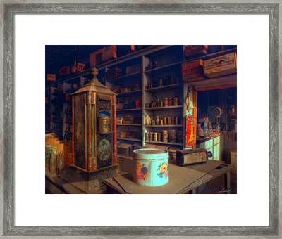 General Store For Canvas Framed Print
