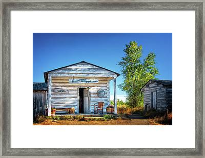 General Store In Grand Tetons Historic District Framed Print