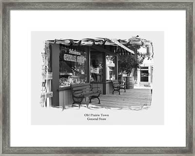 General Store Framed Print by Jim  Darnall