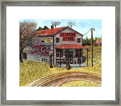 General Store Framed Print by Mike OBrien