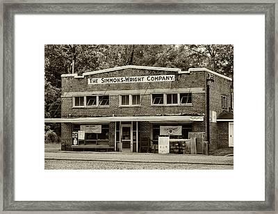 General Store - Vintage Sepia Framed Print