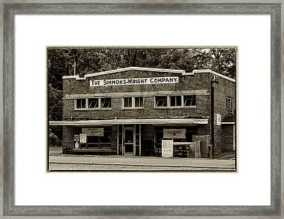 General Store - Vintage Sepia With Border Framed Print by Stephen Stookey