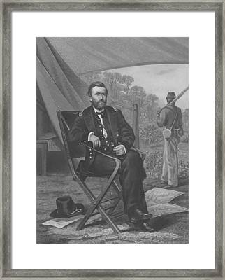 General U.s. Grant Framed Print by War Is Hell Store