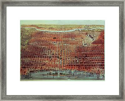 General View Of Philadelphia Framed Print by Currier and Ives