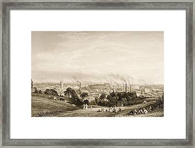 General View Of Stockport, Lancashire Framed Print by Vintage Design Pics