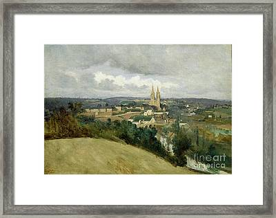 General View Of The Town Of Saint Lo Framed Print