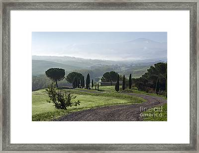 General View Of Val D'orcia, Tuscany Framed Print