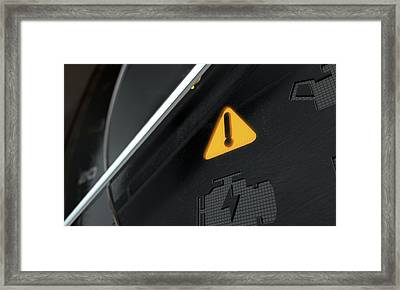 General Warning Dashboard Light Framed Print by Allan Swart
