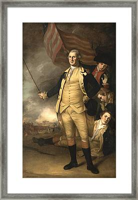 General Washington At The Battle Of Princeton Framed Print by War Is Hell Store