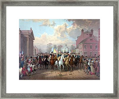 General Washington Enters New York Framed Print by War Is Hell Store