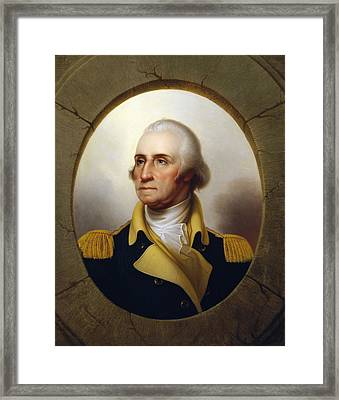 General Washington - Porthole Portrait  Framed Print