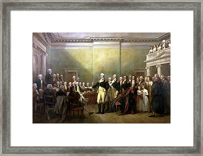 General Washington Resigning His Commission Framed Print