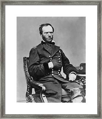 General William Sherman Framed Print by War Is Hell Store