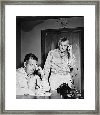 Generals Groves And Farrell, 1945 Framed Print by Science Source