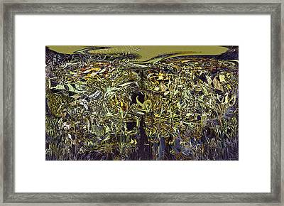 Generated Chaos Framed Print