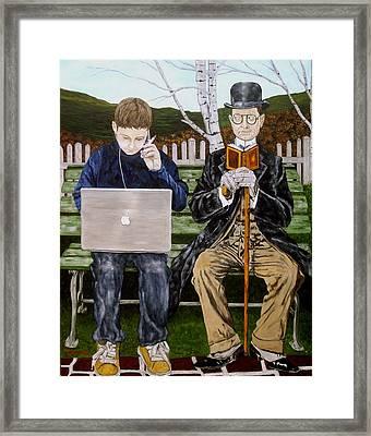 Generation Gap Framed Print by Troy Rohn