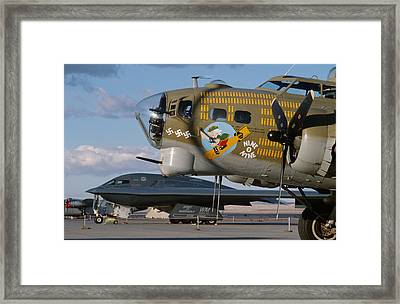 Generations B-17 And B-2 Framed Print by John Clark