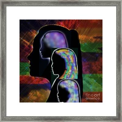 Generations Framed Print by Diamante Lavendar