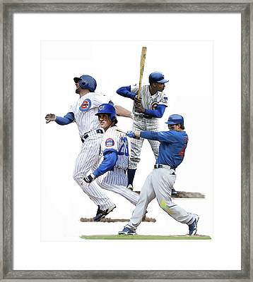 Generations Cubs I  The Chicago Cubs Framed Print by Iconic Images Art Gallery David Pucciarelli